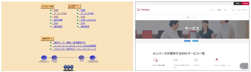 メンバーズの自社サイト